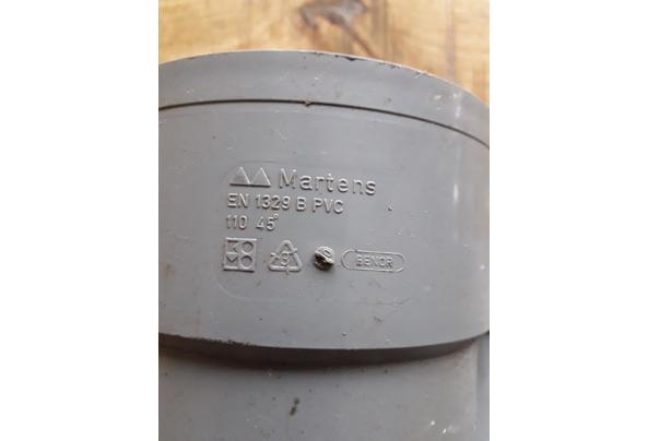 Riool Y stuk 110mm hoek 45 - 16153052238847712394109755889355