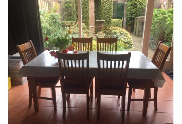 Eettafel met zes stoelen - 0560DA59-2178-4A5B-AEA0-F0A9536E9ECD