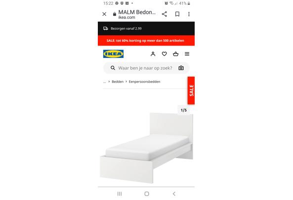 Wit mdf 1 persoons bed 90x200 - Screenshot_20210614-152211_Chrome