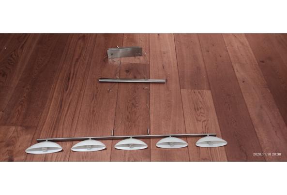 RVS halogeen pendellamp met 5 lampen, Trafo defect - lamp