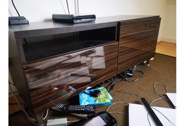 Zwart met donkerbruin IKEA Besta TV meubel - IMG_20210508_140513