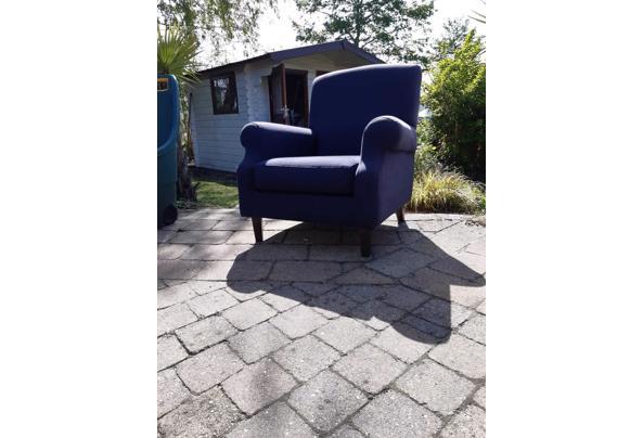 Twee blauwe landelijke fauteuils - 55CEC68C-49A1-43BF-93F9-5F36AEDEBC51
