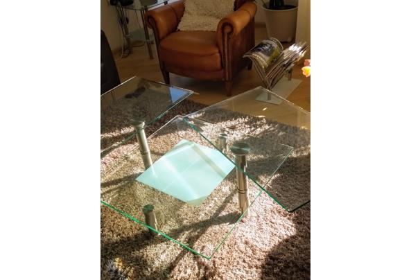 Salontafel met dubbel stevig glazen blad op 2 hoogten  - Glastafel1.jpeg