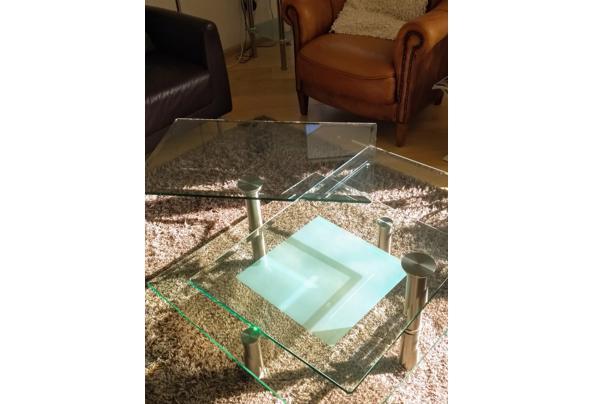 Salontafel met dubbel stevig glazen blad op 2 hoogten  - Glastafel3.jpeg
