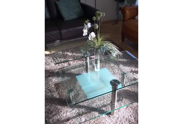 Salontafel met dubbel stevig glazen blad op 2 hoogten  - Glastafel4.jpeg