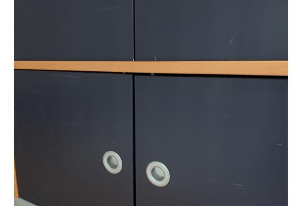 Ikea bureau kast blauw en hout - 073A6D32-E669-4555-A7D2-03287C6B15C6