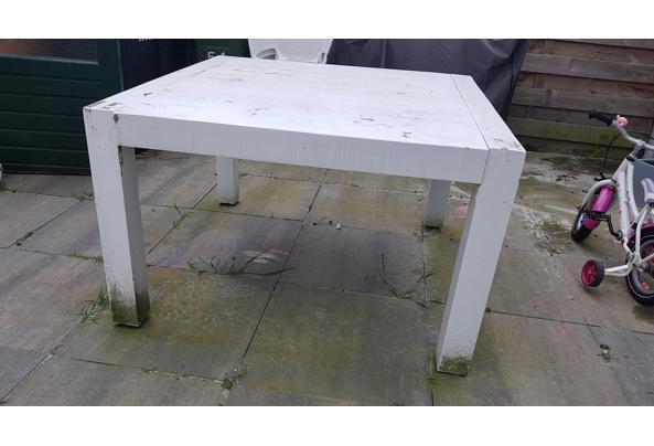 Houten vierkante tafel 120x120 - 20210526_150535