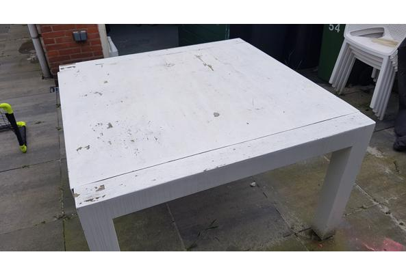 Houten vierkante tafel 120x120 - 20210526_150540