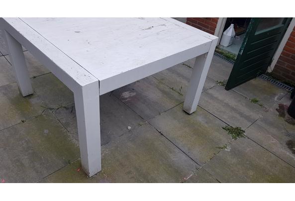 Houten vierkante tafel 120x120 - 20210526_150549