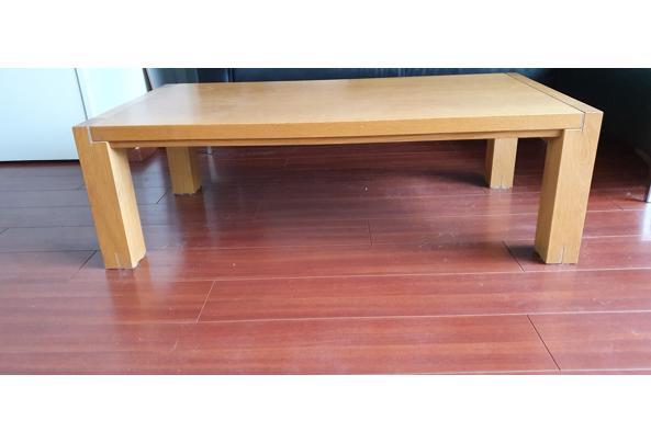Mooie salontafel van eiken mwt RVS rand!! - 20210312_133830