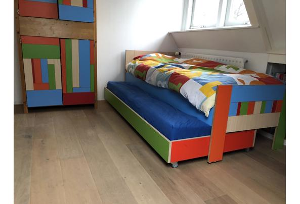 Bed & logeerbed 200x80 hout/kleurrijk  - 05D398EA-CBBD-454F-8D7E-674074289538