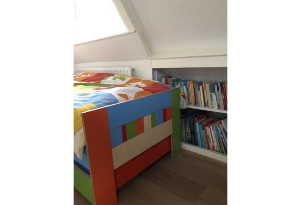 Bed & logeerbed 200x80 hout/kleurrijk  - 3393402A-6640-4D1A-8EF1-582A976C3B87