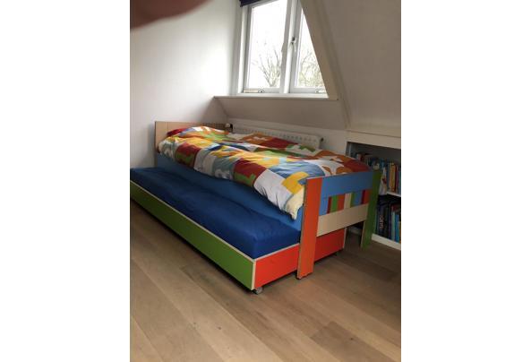 Bed & logeerbed 200x80 hout/kleurrijk  - BC573084-F77D-4DBF-9A81-B543F7B6624C