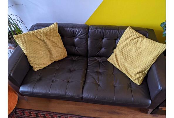 Landskrona bank en fauteuil ikea donker bruin - 4D8F0B7E-52A3-42F9-AEAA-56D4F02CB413