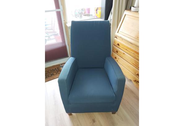 Twee heerlijke goede blauwe stoelen - 20210321_124608