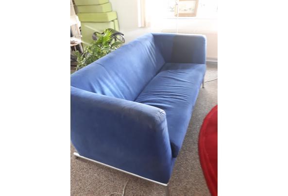 Fijne moderne bank en 2 fauteuils  - 16208126067763866857523493522957