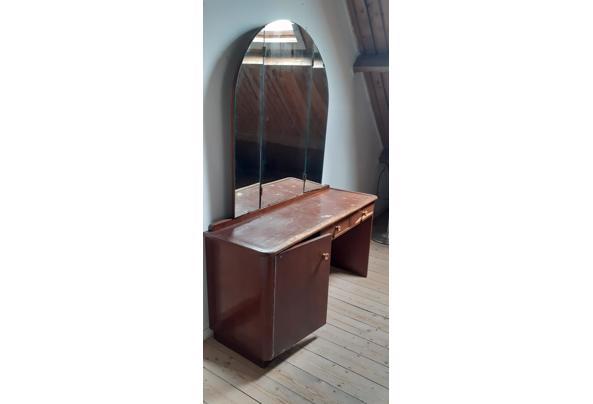Kaptafel met driedelige spiegel jaren 40 - 20210712_134036