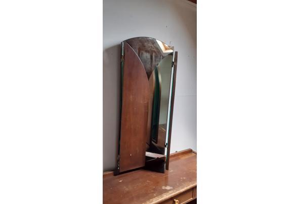 Kaptafel met driedelige spiegel jaren 40 - 20210712_134134