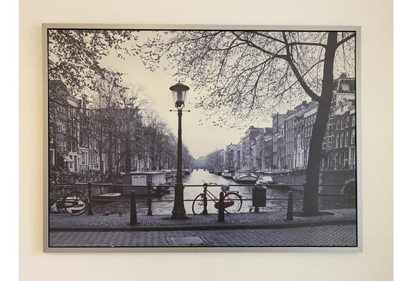 Ingelijste canvas foto rode fiets Amsterdam Ikea - IMG_8247