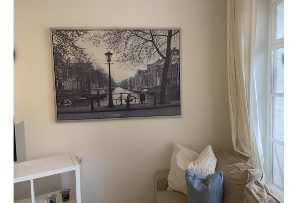 Ingelijste canvas foto rode fiets Amsterdam Ikea - IMG_8249