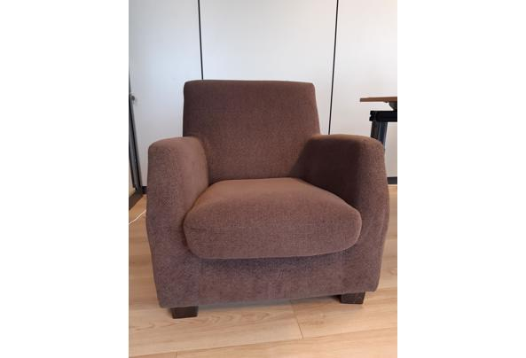 Donkerbruine fauteuil - Donkerbruine-fauteuil