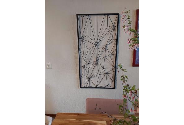 Metalen geometrische wanddecoratie - 20210405_172303