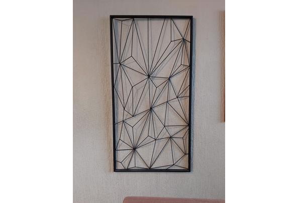 Metalen geometrische wanddecoratie - 20210405_172343