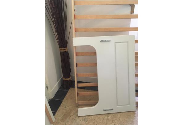 Mooi wit houten bed met lattenbodem, 1 persoons - IMG_3603