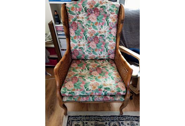 Bloemetjes fauteuil bamboe  - 16143417106469121876308610031376