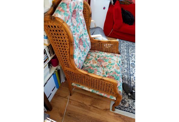 Bloemetjes fauteuil bamboe  - 16143417274393672531913582292551