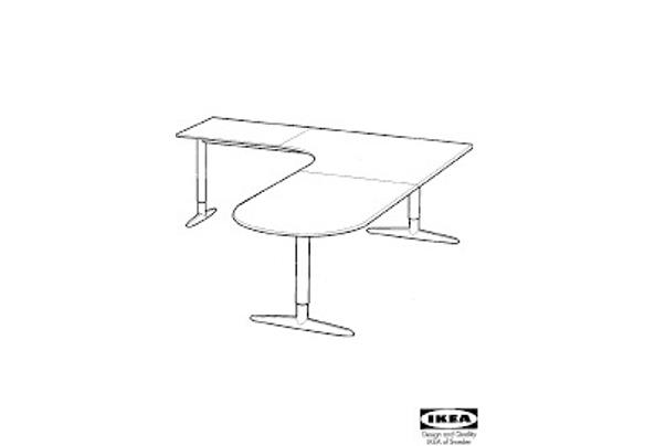 Ikea Effektiv bureautafel - Uit-de-serie-Effektiv
