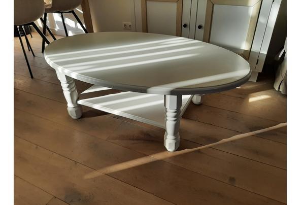 wit geverfde ovale salontafel - salontafel
