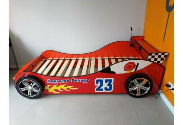 Eenpersoonsbed - raceauto rood met verlichting - $_84-(1)