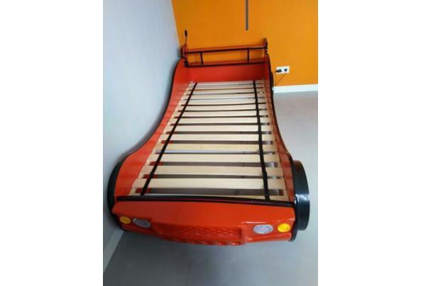 Eenpersoonsbed - raceauto rood met verlichting - $_84-(2)