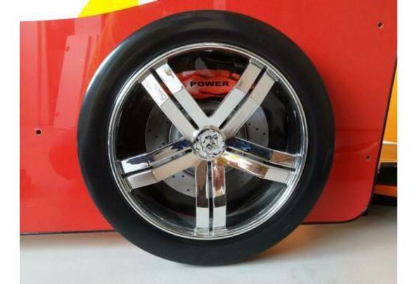 Eenpersoonsbed - raceauto rood met verlichting - $_84-(3)