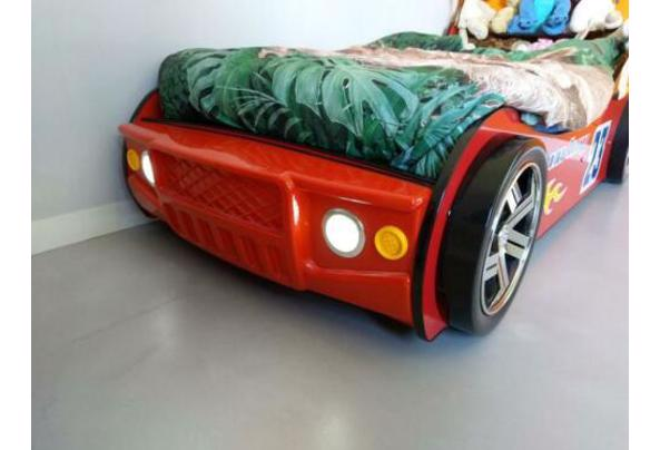 Eenpersoonsbed - raceauto rood met verlichting - $_84-(4)