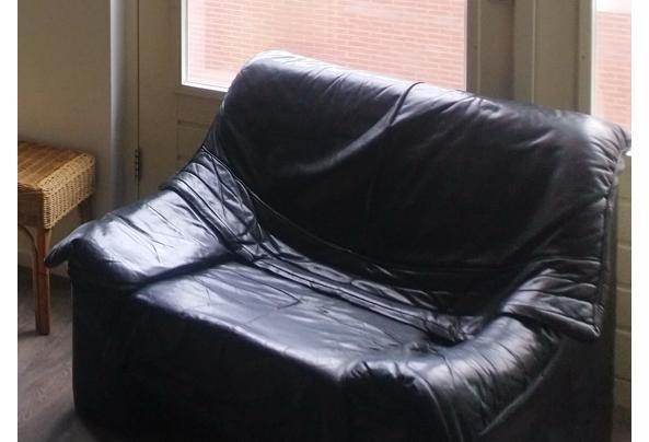 GRATIS Zwarte leren Fautauil stoel - DSC_00stoel43
