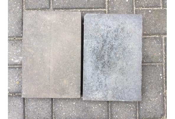 260Naturo betonstenene Zwart 20x30x5 cm+ antraciet betonband - tege