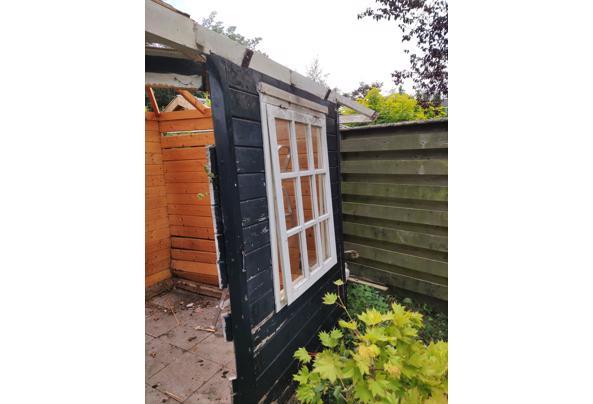 Hout tuinhuis, behandeld en onbehandeld, ramen en deuren - IMG_20210903_122559