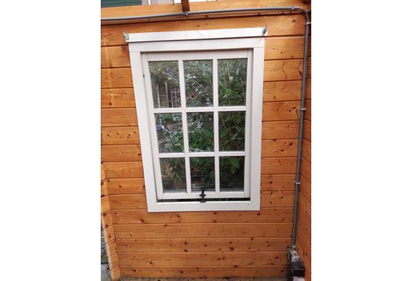 Hout tuinhuis, behandeld en onbehandeld, ramen en deuren - IMG_20210903_122619