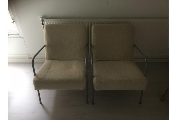 2 ikea feauteuils wit bont - 46A6DD51-B798-4677-80D8-AB6DCBB7A015.jpeg