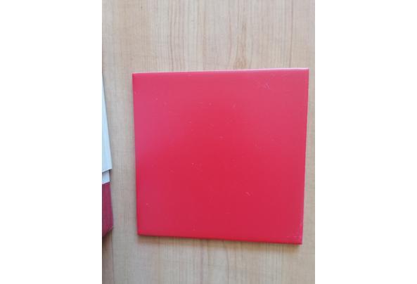 Witte & Rode wandtegels - rood-1