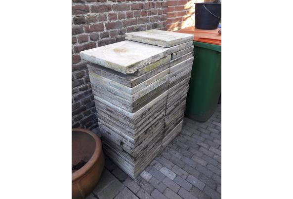 Terastegels 40x40 cm licht gelige marmer look - 20210227_162518