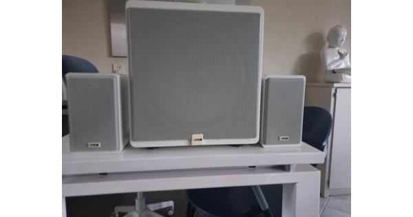 Canton luidsprekerset; basbox met 2 kleine boxjes, voor gebruik bij versterker o.i.d.
