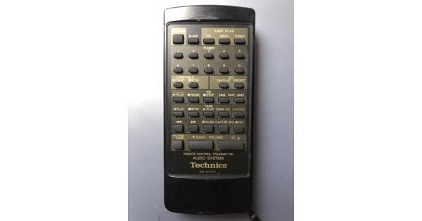 Wie heeft een afstandsbediening voor een technics stereotoren?
