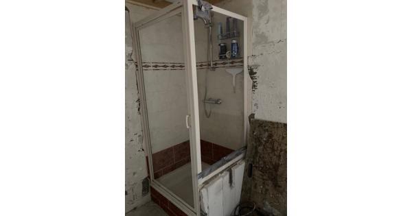 Douche bak 90 x 80 cm + Douche deur  en zijwand