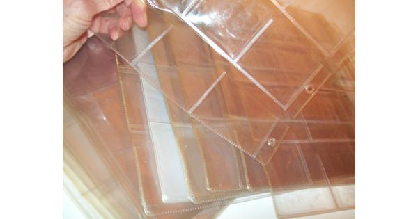 Transparante Insteekhoezen met 12 'insteek-vakje' per vel