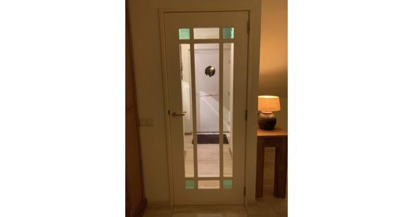 mooie hardhouten binnendeur met glas