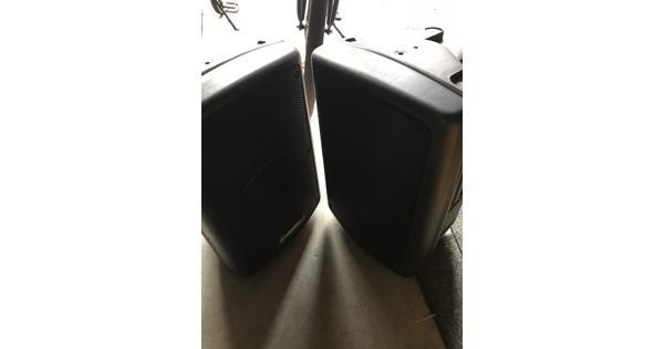 Speakers dj set omnitronic kpa210 voor onderdelen