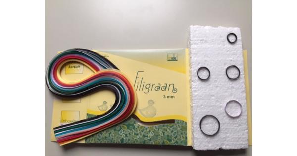 fimoklei, filigraan en origami papier